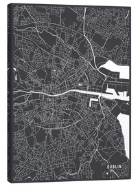 Canvas print  Dublin Ireland Map - Main Street Maps