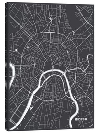 Canvas print  Moscow Russia Map - Main Street Maps