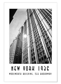 Premium poster Historic New York - Woolworth Building, 233 Broadway, Manhattan