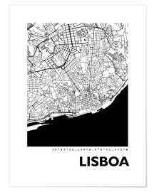 Premium poster  City map of Lisbon - 44spaces