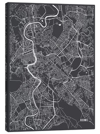 Canvas print  Rome Italy Map - Main Street Maps