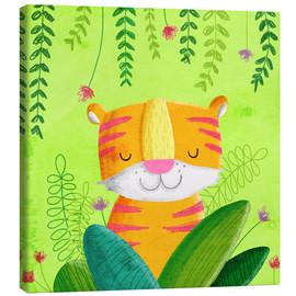 Canvas  Tiger in the jungle - Sandy Thißen