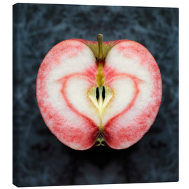 Canvas print  Symmetrical apple with red heart - Cultura/Seb Oliver