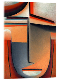Acrylic print  Abstract head, tragedy - Alexej von Jawlensky