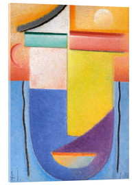 Acrylic print  Abstract head - water and light - Alexej von Jawlensky