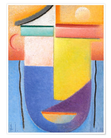Premium poster  Abstract head - water and light - Alexej von Jawlensky