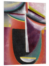 Foam board print  Abstract head, mystery - Alexej von Jawlensky