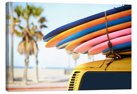 Canvas print  Multi-coloured surfboards - Image Source