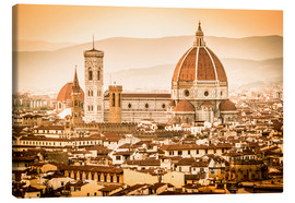 Canvas  Cityscape with Cathedral and Brunelleschi Dome, Florence - Cubo Images