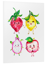 Foam board print  Naughty fruits - Ikon Images