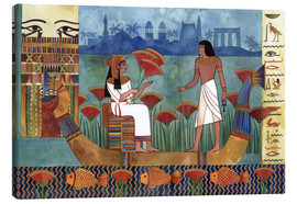 Canvas print  Egyptian couple on the Nile