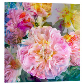 Acrylic print  layer work from flowers - Alaya Gadeh