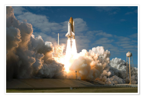Premium poster Space shuttle Atlantis lifts off