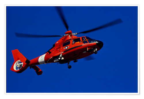 Premium poster Coast Guard helicopter