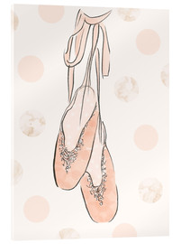 Ballet shoes on the wall