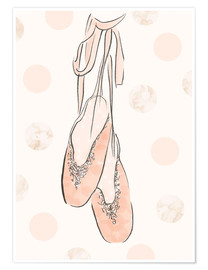 Premium poster  Ballet shoes on the wall