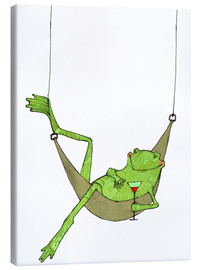 Canvas print  Lazy frog