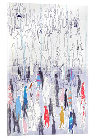 Acrylic glass  Abstract crowd