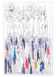 Poster  Abstract crowd