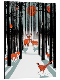 Aluminium print  Animals in the winter forest - Ikon Images