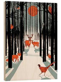 Wood  Animals in the winter forest - Ikon Images