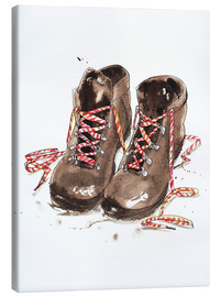 Canvas print  Pair of hiking boots - Ikon Images