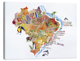 Canvas print  Colorful Brazil - Ikon Images