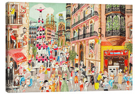 Canvas print  Street party in Barcelona - Ikon Images
