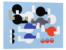 Foam board print  Composition of Circles and Overlapping Angles - Sophie Taeuber-Arp