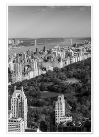 Premium poster  Central Park in black and white - Walter Bibikow