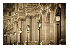 Premium poster  Lamp posts and columns at Louvre - age fotostock
