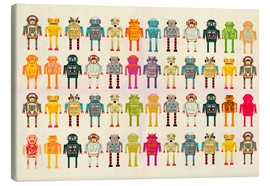 Canvas print  Toy robots in a row - Ikon Images