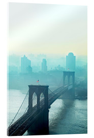 Acrylic print  Brooklyn Bridge at dawn - Johner
