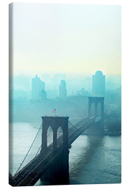 Canvas print  Brooklyn Bridge at dawn - Johner