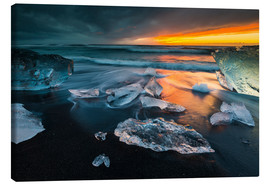 Canvas print  Ice chunks in the glacier lagoon - Arnold Schaffer