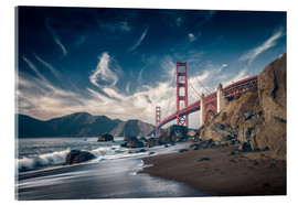 Acrylic print  Beach and Golden Gate Bridge - Westend61