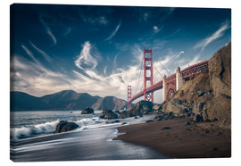 Canvas print  Beach and Golden Gate Bridge - Westend61