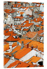Acrylic print  The roofs of Dubrovnik - Axiom RF