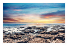 Premium poster  Lonely coastal landscape in the sunset - Mitiu