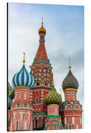 Aluminium print  St. Basil's Cathedral at Red Square in Moscow - Click Alps