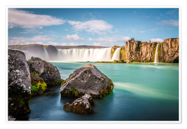 Premium poster Godafoss, the waterfall of the gods