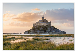 Premium poster  Sunrise over Mont-Saint-Michel - Click Alps