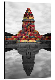 Aluminium print  Monument to the battle of the nations Colour Pop