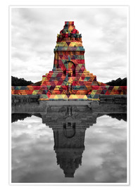 Premium poster  Monument to the battle of the nations Colour Pop