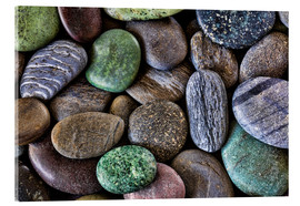 Acrylic print  Colorful beach stones - Don Paulson
