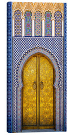 Canvas  Detail of the King's Palace ornate doors, Morocco - Brenda Tharp