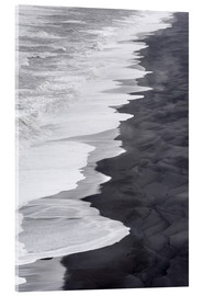 Acrylic print  North Atlantic coast during the winter, Solheimasandur - Martin Zwick