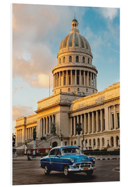 Foam board print  Vintage car in historic Havana - John & Lisa Merrill