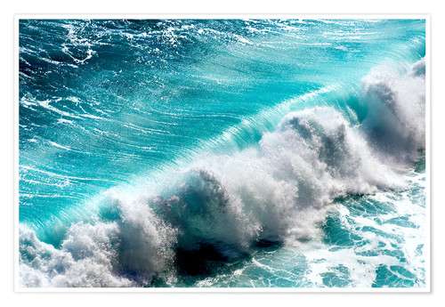 Premium poster Ocean waves on Bali