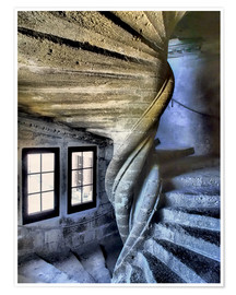 Premium poster Stairs in the Chateau de Lourmarin